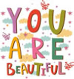 Motivational quote - you are </section>beautiful